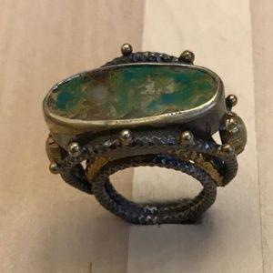 925 Silver  Stunning Genuine Gem Women Ring